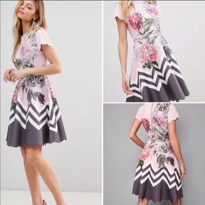 Ted Baker Haiile floral scalloped dress